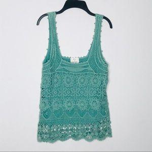 Anthro. pins & needles crochet top